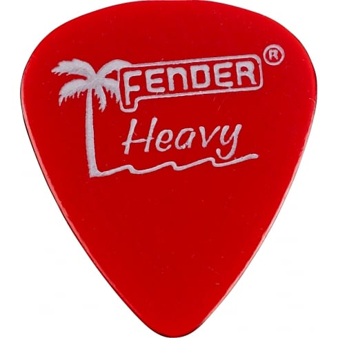 Fender California Clear Guitar Picks 12-Pack Candy Apple Red Heavy