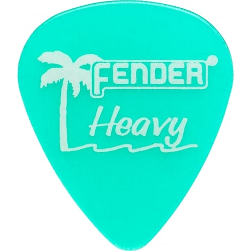Fender California Clear Pick 12-Pack Green / Heavy
