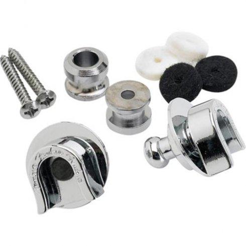 Fender Chrome Strap Locks & Buttons