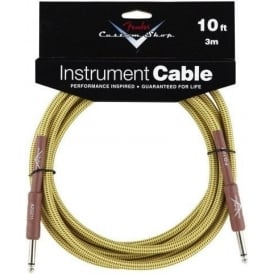 Fender Custom Shop 10ft Tweed Instrument Guitar Cable Straight to Straight