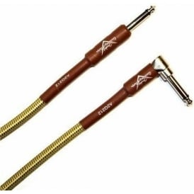 Fender Custom Shop 18.6ft Tweed Instrument Cable Angled to Straight 099-0820-031