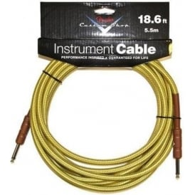 Fender Custom Shop 18.6ft Tweed Instrument Cable Straight to Straight