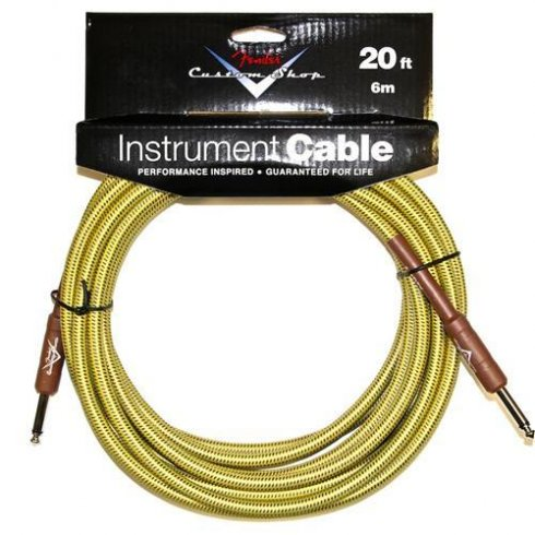 Fender Custom Shop 20ft Tweed Instrument Cable Straight to Straight