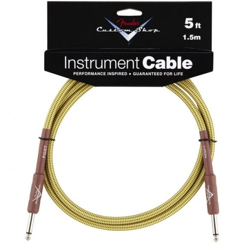 Fender Custom Shop 5ft Tweed Instrument Cable Straight to Straight