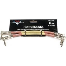 "Fender Custom Shop 6"" Tweed Angled Guitar Effects Pedal Patch Cable 2-Pack 099-0820-042"