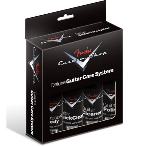 Fender Custom Shop Deluxe Guitar Care System Kit - 4-Pack of Guitar Polish