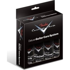 Fender Custom Shop Deluxe Guitar Care System Kit - 4-Pack of Guitar Polish