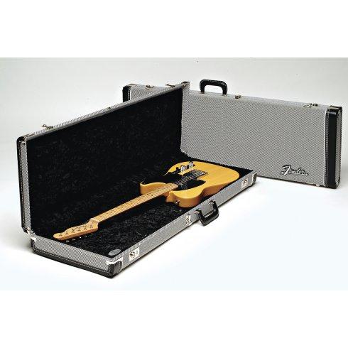 Fender Deluxe Strat/Tele Hard Case, Black Tweed with Black Lining