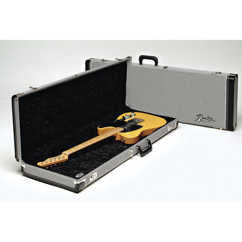 5cbbedb43c Fender Deluxe Strat/Tele Hard Case, Black Tweed with Black Lining