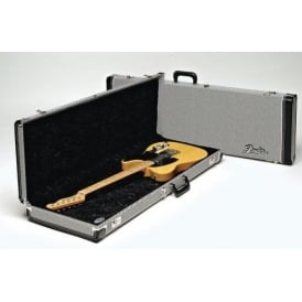 Fender Deluxe Stratocaster/Telecaster Electric Guitar Case, Black Tweed