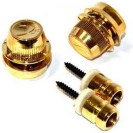 "Fender ""F"" Straplocks Gold (Pair) for Guitar Security"