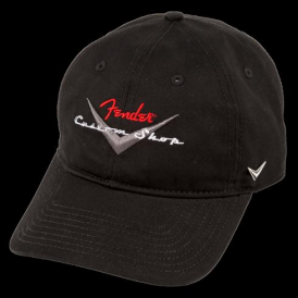 Fender Genuine Custom Shop Black Baseball Hat 910-6635-306