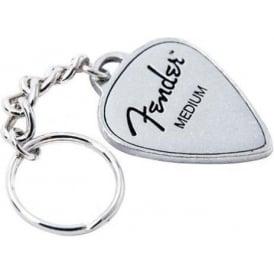 Fender Guitar Pick Pewter Keyring