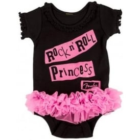 Fender Genuine Black & Pink Princess Baby Grow for 3 Year Olds
