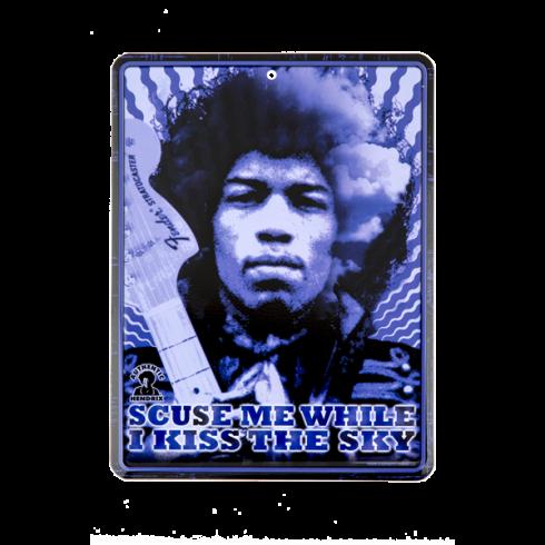 Fender Genuine Hendrix Kiss the Sky Design Tin Sign 910-0280-000