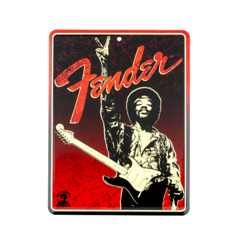 Fender Genuine Hendrix Peace Sign Design Tin Sign 910-0279-000