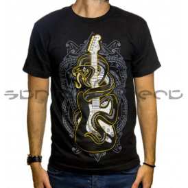 Fender Genuine Official Black Viper Snake Mens Small T-Shirt
