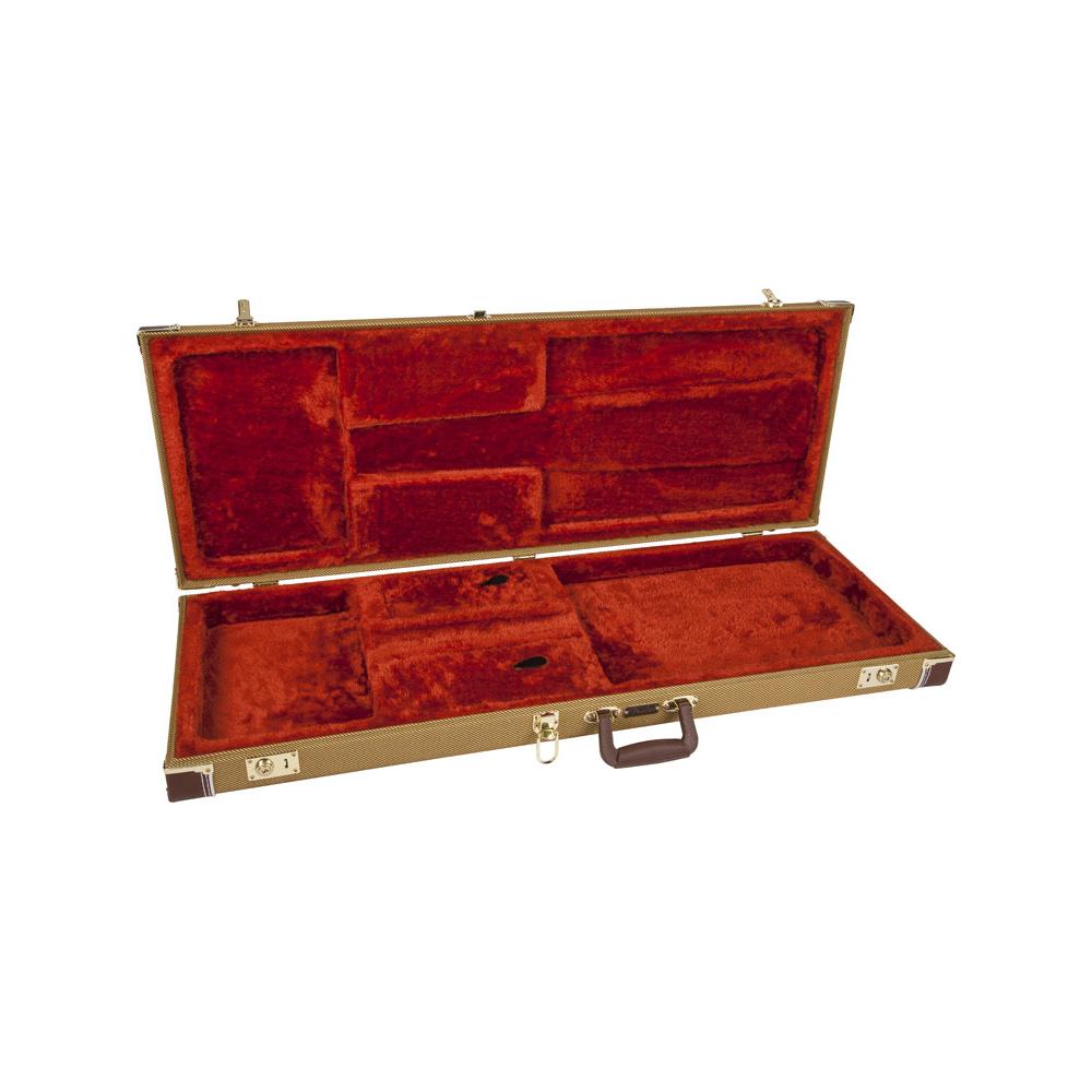 fender genuine pro series strat tele tweed electric guitar case. Black Bedroom Furniture Sets. Home Design Ideas