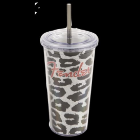 Fender Guitar Genuine Acrylic Glitter Tumbler Black/Grey 910-0266-000