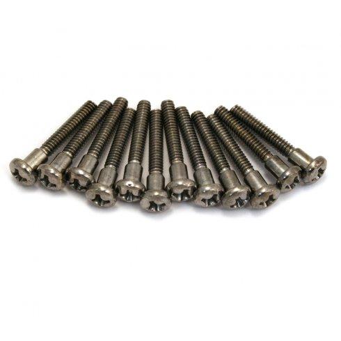 fender pickup mounting screws 12 pack chrome for scn n3 strat tele. Black Bedroom Furniture Sets. Home Design Ideas