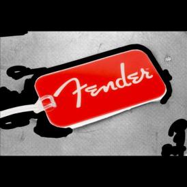 Fender Guitars Genuine Red White Spaghetti Logo Luggage Tag