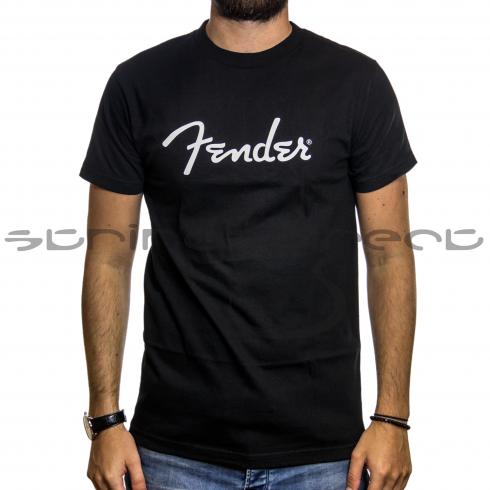 Fender Guitars Spaghetti Logo T-Shirt Black in Small Size