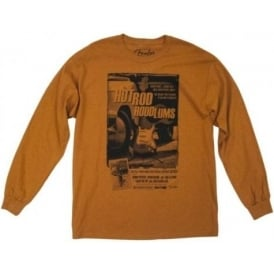Fender Hotrod Hoodlums Long Sleeve T-Shirt, Burnt Orange