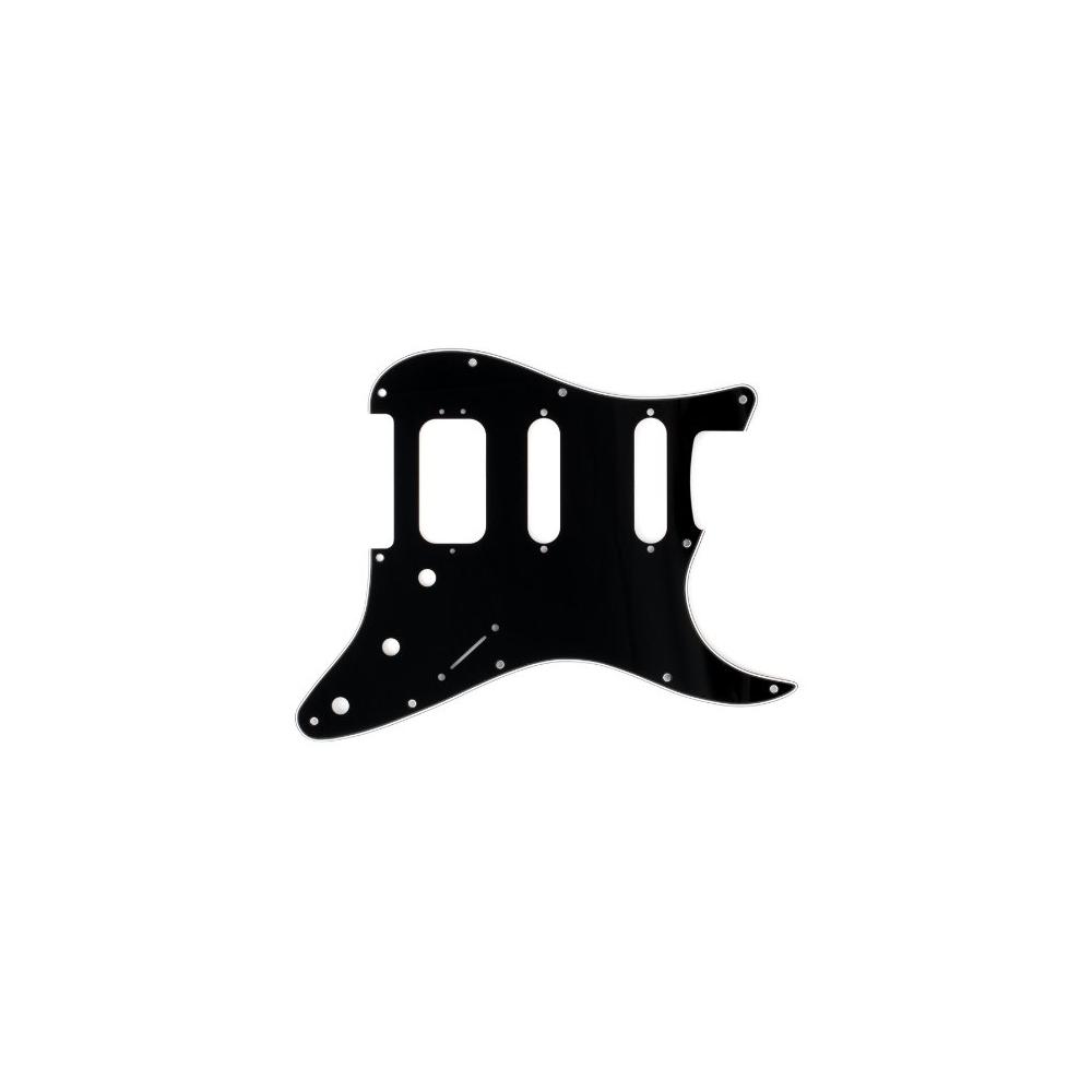 Fender HSS Strat Pickguard 11 Hole, 3-Ply, Black-White-Black