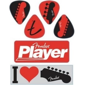 Fender I Love Fender Sticker Pack