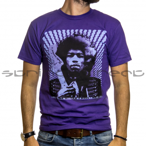 "Fender Fender® Jimi Hendrix ""Kiss the Sky"" T-Shirt, Purple"