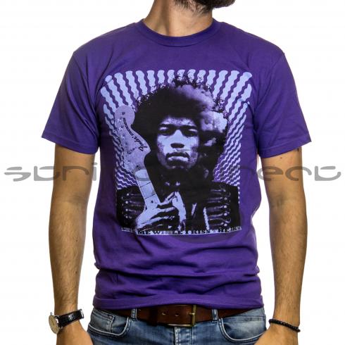 "Fender Jimi Hendrix ""kiss The Sky"" T-shirt - Purple Size: Medium"