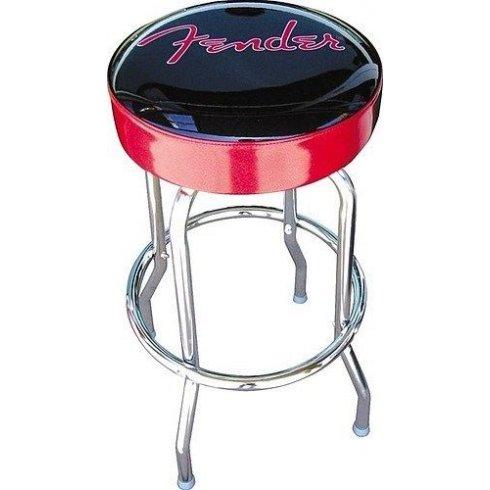 """Fender Knockdown Logo Bar Stool, Red Sparkle, 30"""""""