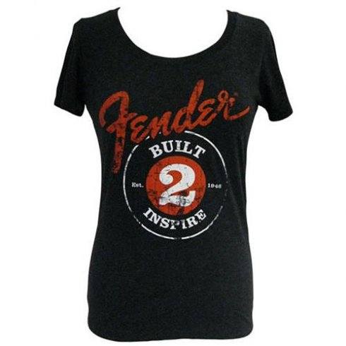 """Fender Ladies """"Built to Inspire"""" T-Shirt - Small"""