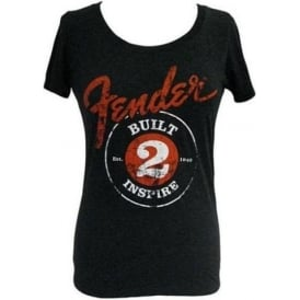 "Fender Ladies ""Built to Inspire"" T-Shirt - Small"