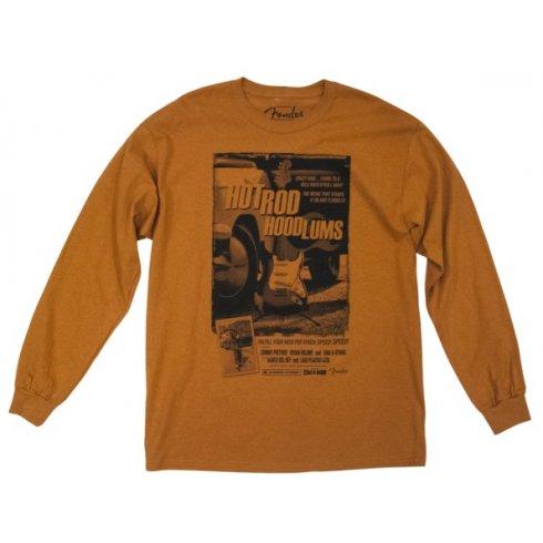 Fender Large Long Sleeve T-Shirt Hotrod Hoodlums - Orange