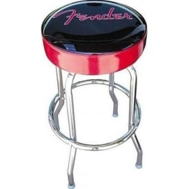"Fender Logo Knockdown Red Sparkle Bar Stool 30"" High 099-0205-010"
