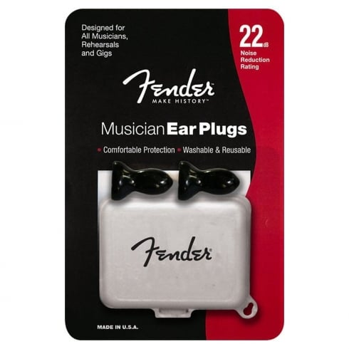 Fender Musician Series Ear Plugs Black 22dB -Noise reduction 099-0542-000