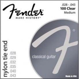 Fender Nylon Classical Nylon Clear/Silver 100 Guitar Strings