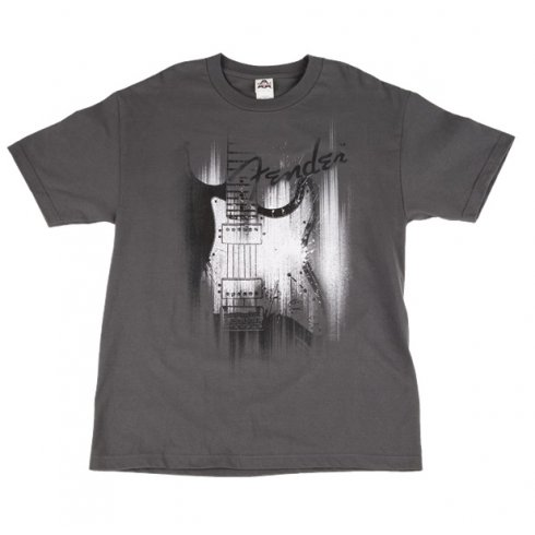 Fender Official Grey Airbrush Mens Small T-Shirt