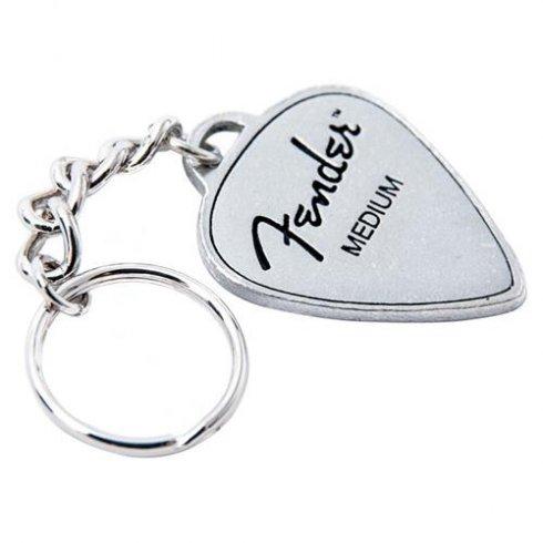 Fender Official Guitar Pick Pewter Keyring 919-0550-217