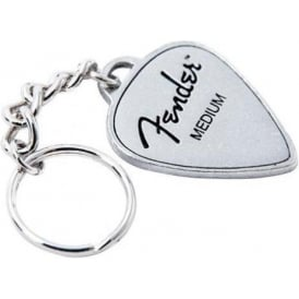 Fender Official Guitar Pick Pewter Keyring 919-0550-217