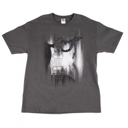 Fender Official T-Shirt Grey Airbrush Mens Medium Size 910-1369-406