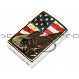 Fender Official Zippo Etched USA Flag Stratocaster Lighter 910-0235-406