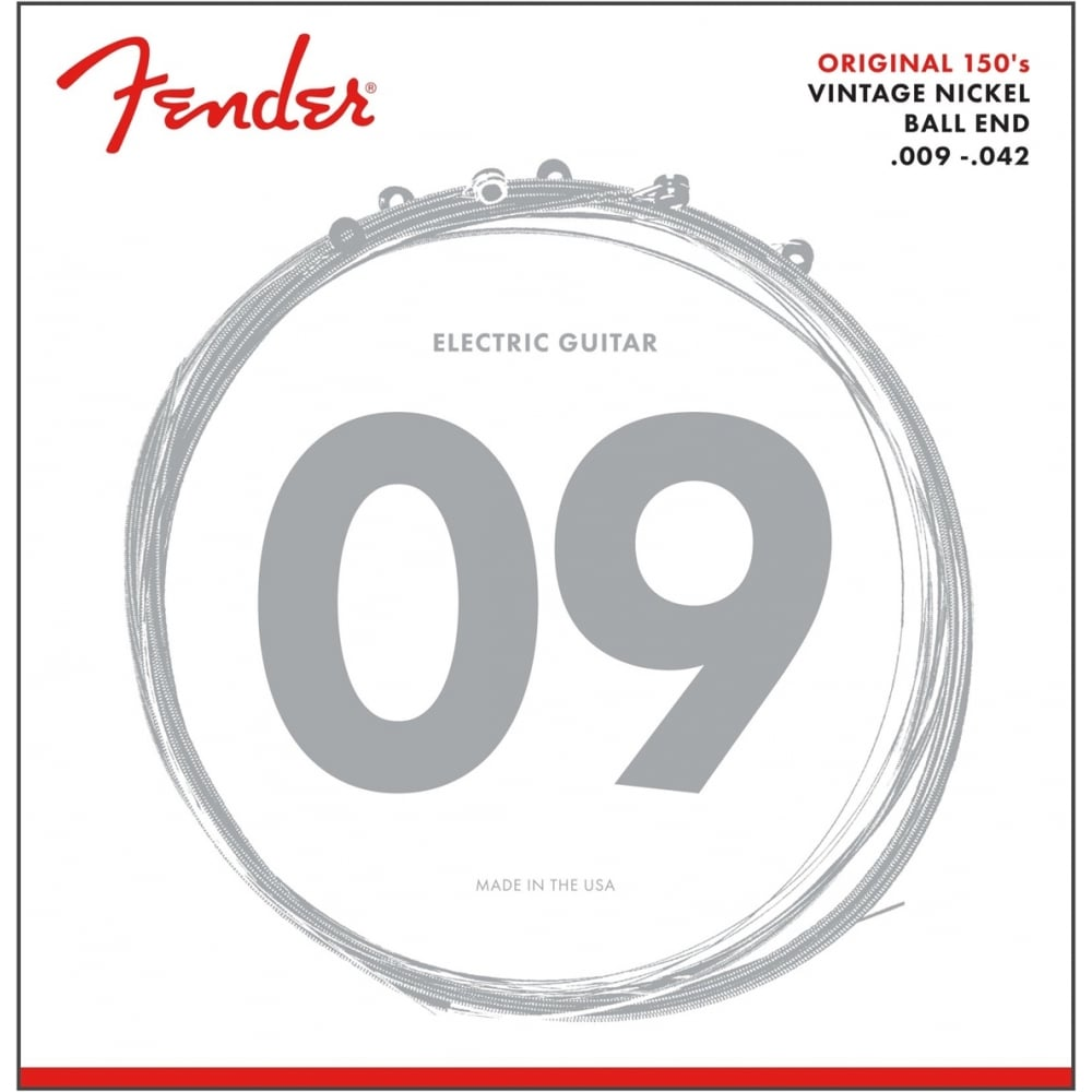 fender original 150l pure nickel wound 09 42 electric guitar strings. Black Bedroom Furniture Sets. Home Design Ideas