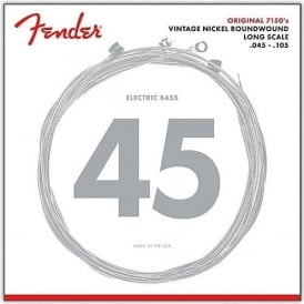 Fender Original 7150M Pure Nickel Wound Bass Guitar Strings, 45-105, Long Scale