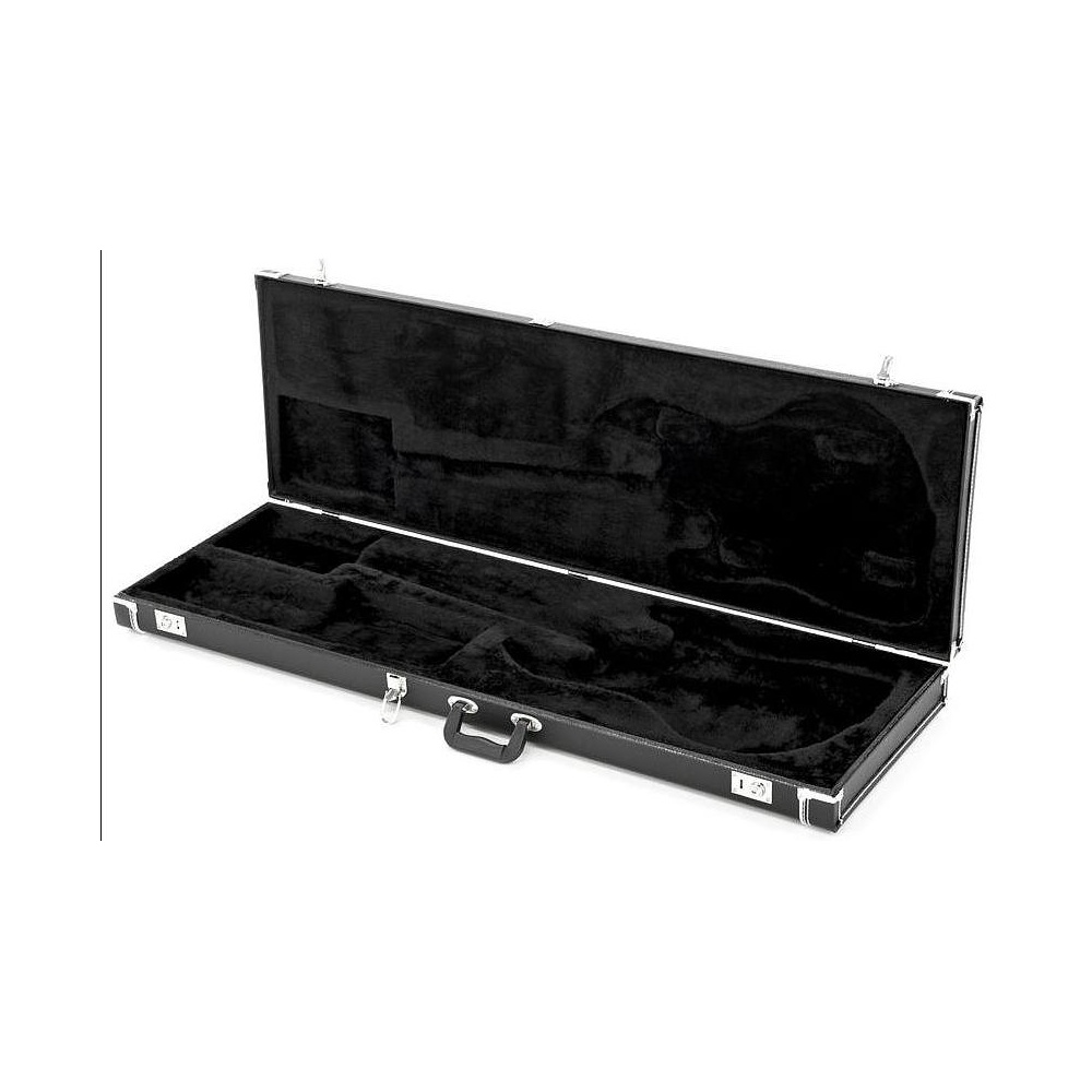 fender pro series p bass jazz bass guitar hard case black. Black Bedroom Furniture Sets. Home Design Ideas