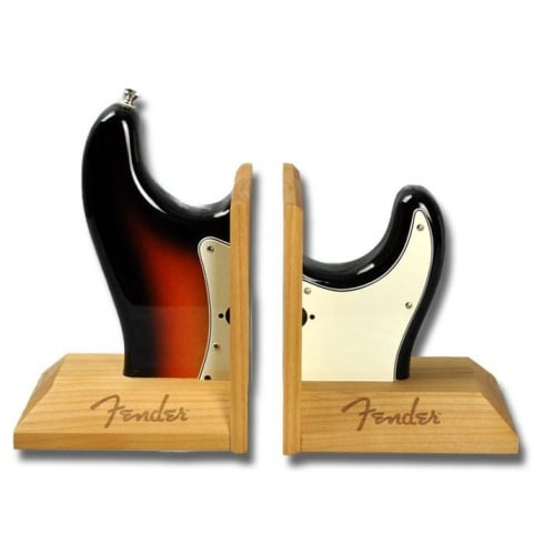 Fender Stratocaster Sunburst Book Ends