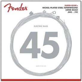 Fender Super Bass 4-String Nickel Plated Steel 45-110TW Long Scale Bass Guitar Strings 8250M
