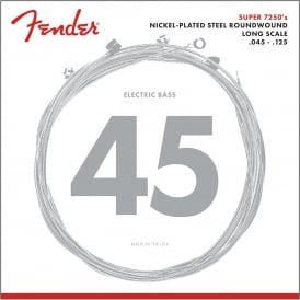 Fender Super Bass 72505M Nickel Plated Steel Bass Guitar Strings 45-125 Long Scale 5-String