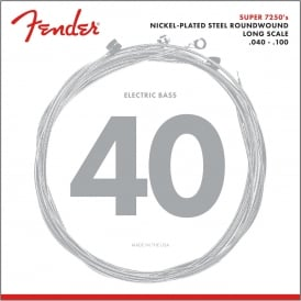 Fender Super Bass 7250L Nickel Plated Steel Bass Guitar Strings 40-100 Long Scale